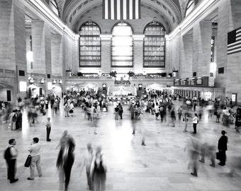 Grand Central Station photo / New York City / black and white urban art, modern home decor
