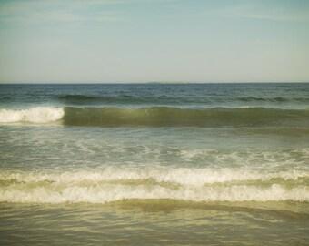 Beach decor, dreamy ocean waves photograph