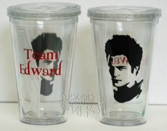 Personalized Team Edward Tumbler - Twilight Vampire - Travel Cup