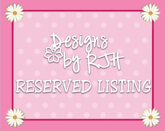 Reserved Listing for alj0227