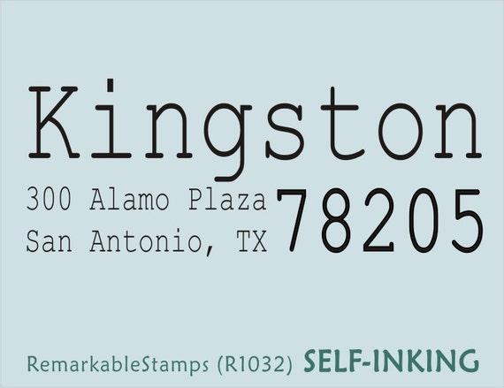 Custom Return Address Rubber Stamp - Smart Letterpress Typewriter Fonts  - Custom Personalized Etsy Design (R1032)