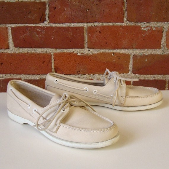 Original  LL Bean Leather Boat Shoes
