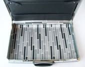 Vintage 1970s black samsonite hardcase briefcase with updated interior