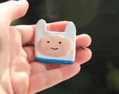 Hand crafted Finn, Adventure time hair clip.