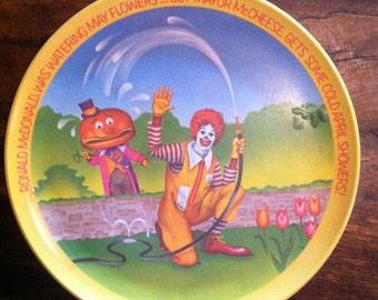 1970's McDonalds Plate