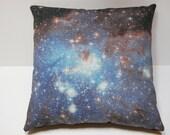"Galaxy Nebula Print Throw Pillow Cover ""Blue Haze"""