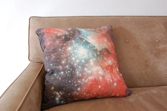 Galaxy Nebula Print Accent Pillow Cover Throw Pillow