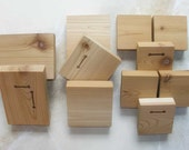 4X6, 2 wood blocks for your own art