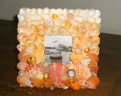 Seashell picture frame inspired by fiery orange sunsets in Hawaii - KAILUA KONA MINI
