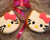 Reserved for Jessie Gluten Free Hello Kitty Cookies