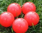 5 Upcycled Juggling Balls - Red