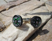Compass liquid filled cuff links for Father's Day Wedding Graduation