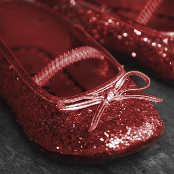 Whimsical Holiday Photograph - Sparkle Shoes - print, christmas, ruby red shoes, gifts for girls, efpteam, fpoe