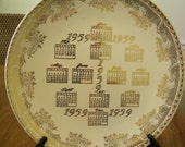 1959 Calendar Plate