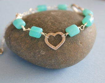 Sterling Silver Key to My Heart Bracelet