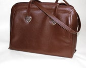 Coldwater Creek Vintage Brown Faux Leather Pebble Shoulder Bag Tote
