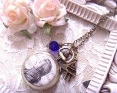 classic music  Mozart portrait cameo print pendant grand piano little charm pocket watch necklace