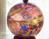 Huge Art Glass Conscious Sphere Gazing Ball - Mesmerizing Colors and Designs