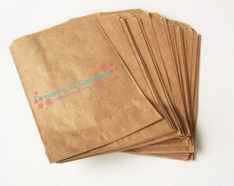 "25- 5 x 7""  Kraft Paper Bags -Small Kraft Bags -Candy Bags -Flat Kraft Bags -Decorative Paper Bags -Packing Paper Bags"