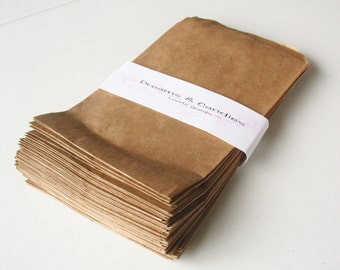 "75- 5 x 7""  Kraft Paper Bags for decorate, stamp, gift bags, envelopes, party favors, and many more"