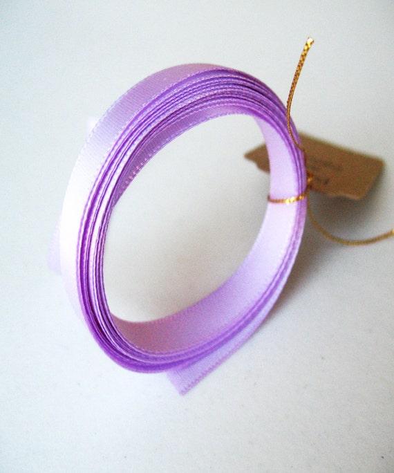 2yd Lilac Satin Ribbon  3/8 inch wide