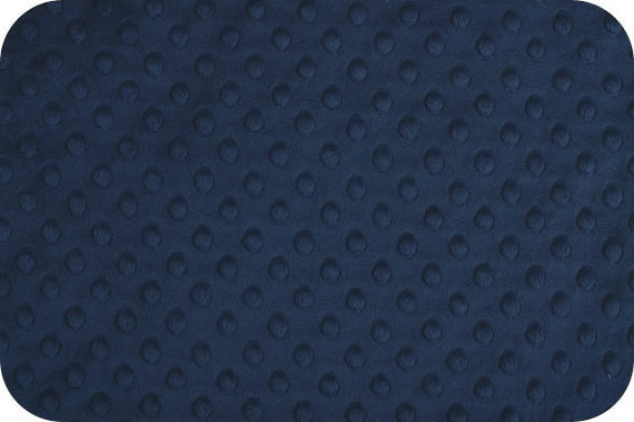 Navy Blue Cuddle Dimple Minky, Minkee, Bubble Dot Minky, Shannon Fabrics, Navy, 1 yard