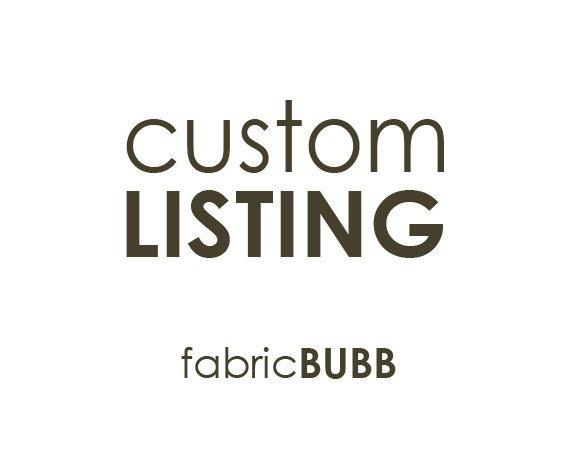 Custom Listing for Katharine