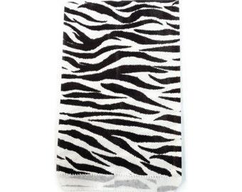 100pcs - 5x7 Zebra Animal Print Paper Merchandise Bags