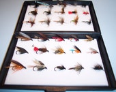 30 Trout Flies in Plastic Fly Box Consisting of 15 Wet Flies and 15 Dry Flies Ideal GIFT present or gift Gift