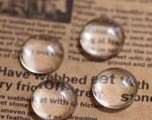 20pcs 16MM transparent round shape glass cabochon,pendant setting cabochon 4110009-4