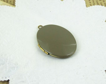 5pcs 22x29MM grey color oval locket pendant,brass locket pendant,vintage locket,photo locket  1120009
