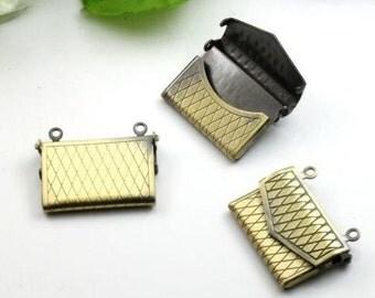 5pcs Purse,Brass Bronze  Locket Pendant,Vintage locket,Vintage Locket,envelope locket 1191007