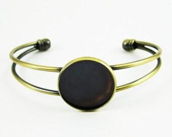 2pcs 20MM vintage brass bracelet blank,original raw brass braclet cuff 1900013