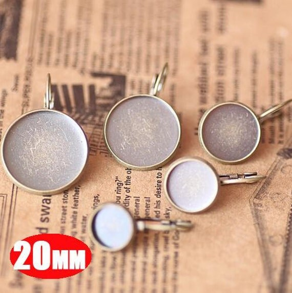 20pcs 20MM vintage brass bronze earrings hoop,earrings base setting,vintage earrings,vintage jewelry1701006-5