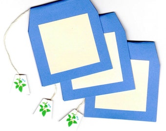 TEA BAG Handmade Place Cards, pkg of 8 - an exclusive Paper Architect design