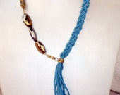 Double braid Leather necklace