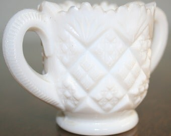Westmoreland Milk Glass Sugar Bowl - 1950s