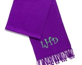 "Great cashmere feel scarf.  LSU fans Embroider with LSU Tigers 67""x12"""