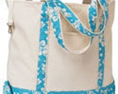 Embroidered personalized tote  16 oz. canvas many colors available Use as a beach bag, diaper bag etc, toy tote, etc.