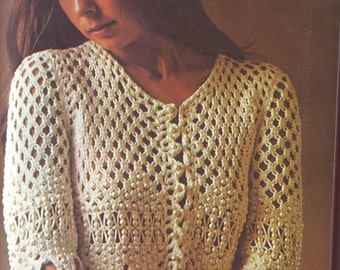 PDF Macrame Pattern - Beaded Macrame Jacket Shawl Shrug 201283 Vintage