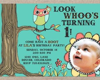 Look Whoo (Birthday Party Invitation)