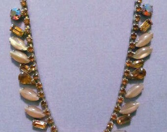 C. 1950's Weiss Amber Necklace