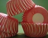 Mini Christmas Cupcake Liners, Candy Cups Candy Cane  Baking Cups  ( 50 )