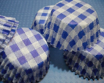 Mini Blue Cupcake Liners, Candy Cups Baking Cups ( 50 )