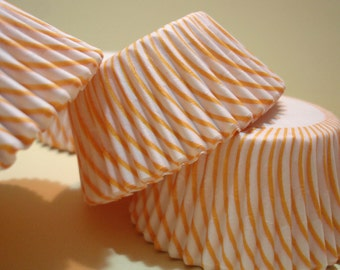 Cupcake Liners Baking Cups (50)  Mini Sunshine Yellow Candy Stripe