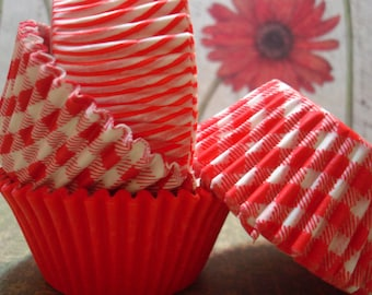 Assorted Red Cupcake Liner Pack (80)