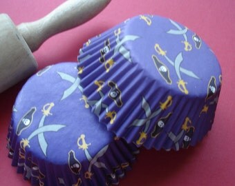 Pirate's Cupcake Liners Baking Cups Paper Liners 50)