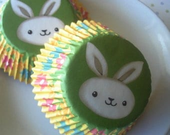 Bunny Cupcake Liners, Paper Baking Cups (50)