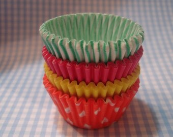 "Mini Cupcake Liners - Mini  Baking Cups "" Carnival ""(60)"