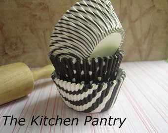 Cupcake Liners - Baking Cups -  Black  Madness  Mixed Package  (60)